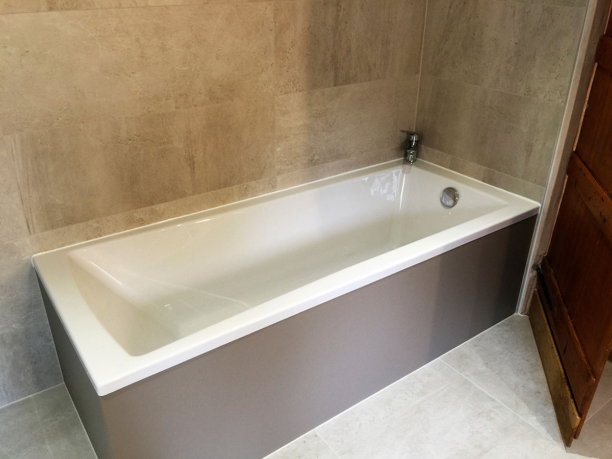 Contemporary wet room with vanity furniture