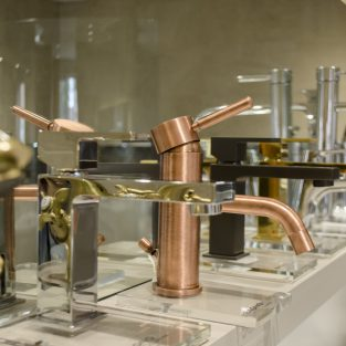 View a range of luxury taps in a variety of colours at our Showroom on Kedleston Road.