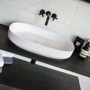 Designer BAGNODESIGN bathrooms available on display at Kedleston Interiors.